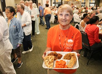 Serving Smiles to Seniors lunch