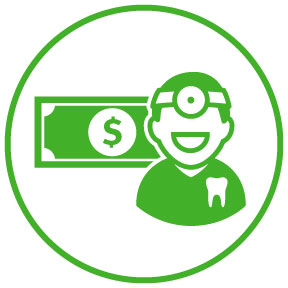 Direct deposit dentist icon