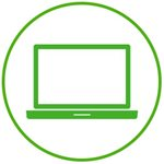 Computer icon green
